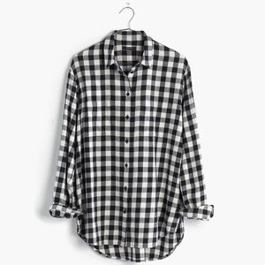 Madewell Over-Sized Checkered Flannel Shirt